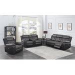 Saybrook Charcoal Tufted Cushion Power Reclining-2