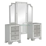 The Avondale Collection Silver Vanity Dresser with
