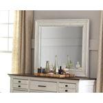 Celeste Vintage White Rectangle Mirror 206464-2