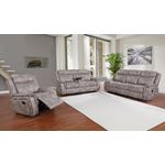 Lawrence Taupe Performance Fabric Reclining Sofa-4