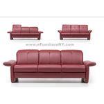 ROM Bernina Belgium Custom Leather Sofa