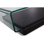 Modrest Vitro Modern Glass and Oak Coffee Table 3