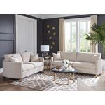 Corliss Beige Fabric Sofa with Arched Arms 50882-4