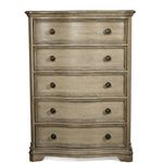 The Corinne 5 Drawer Chest in Acacia Front