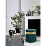 Yasmine Green Velvet Tasseled Ottoman/Stool