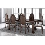 Carmen Walnut Lacquer Modern Dining Table by Franco Spain in set