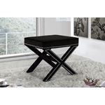 Nixon Black Velvet Upholstered Ottoman/Bench - 2