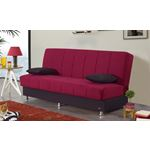 Chicago Armless Sofa Bed in Red in Room