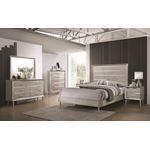 Ramon Metallic Sterling King Panel Bed 222701KE-2