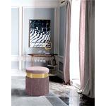 Yasmine Pink Velvet Tasseled Ottoman/Stool