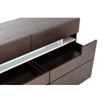 Ceres - Contemporary Brown Oak and Grey Dresser-2
