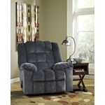 8110525 Ludden Recliner Blue In Room