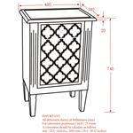 Sophia Accent Table 501-237 - dimensions