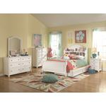 Madison Natural White Painted Solid Wood Bookcase