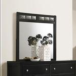 Carlton Black Rectangular Mirror 215864-2