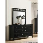 Carlton Black Rectangular Mirror 215864-4