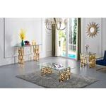 Pierre Gold Stainless Steel Occasional Table Colle