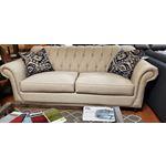 Klaussner Flynn Ivory Linen Sofa