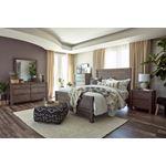 Oakridge Rustic Smokey Grey Queen Panel Bed 2230-2
