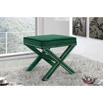 Nixon Green Velvet Upholstered Ottoman/Bench-2