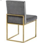 Giselle Grey Upholstered Velvet Dining Chair - G-2