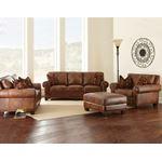 Silverado Caramel Brown Leather Chair-2