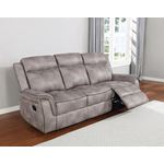 Lawrence Taupe Performance Fabric Reclining Sofa-2