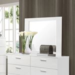 Felicity Glossy White Rectangular Mirror 203504-2