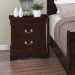 Louis Philippe Cappuccino 2 Drawer Nightstand 20-2