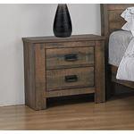 Frederick Weathered Oak 2 Drawer Nightstand 2229-2