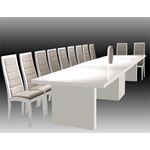 Largo Extra Large Extension White Lacquer Dining Table by Sharelle furnishings