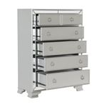 The Avondale Collection Silver Mirrored Chest open