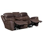 Hemer Chocolate Power Recliner Sofa with Power H-4