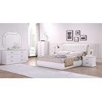 Glam White 6 Drawer Dresser in Set