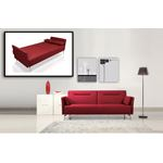 Davenport - Modern Red Fabric Single Sofa