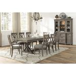Cardano Double Pedestal Trestle Dining Table 1689BR-96 in Set