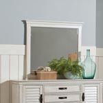Franco Rectangular Mirror Antique White 205334-4