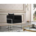 Pippa Black Velvet Upholstered Accent Chair - 2