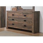 Frederick Weathered Oak 6 Drawer Dresser 222963-2