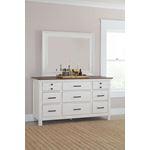 Celeste Vintage White Rectangle Mirror 206464-4