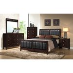 Carlton Full Cappuccino Upholstered Bed 202091F-2