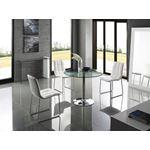 Buono White Lacquer /Clear Glass Console Table - 2