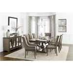 Vermillion Double Pedestal Trestle Dining Table 5442-96 in Set