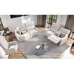 ROM Bellevue Sofa Collection White Leather