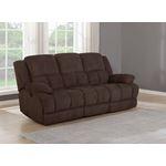 Waterbury Brown Recliner Sofa with Drop Down Tab-2