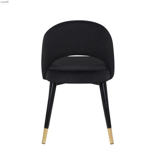 Lindsey Black Velvet Arched Back Side Chair 1935-4