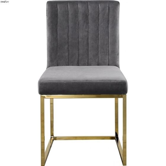 Giselle Grey Upholstered Velvet Dining Chair - G-4