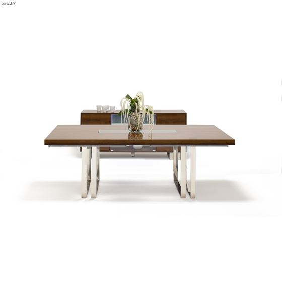 Galway Double Pedestal Walnut Lacquer Dining Table by Sharelle closed
