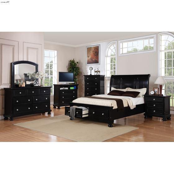 Glory G7025 Black Bedroom