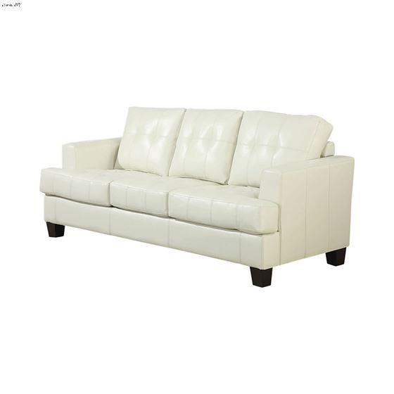 Samuel Cream Bonded Leather Sofa 501691 by Coaster